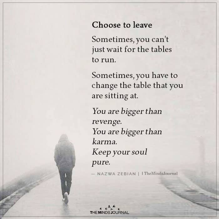 Choose to Leave