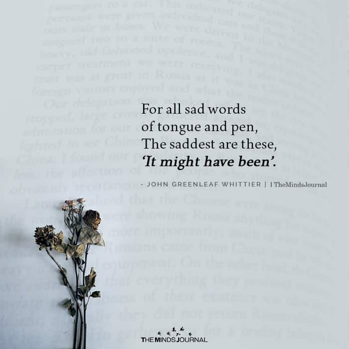 For All Sad Words