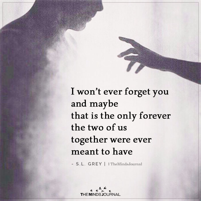 I Won't Ever Forget You