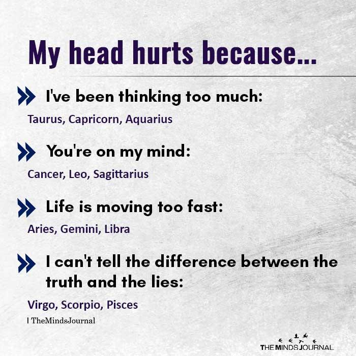 My Head Hurts Because