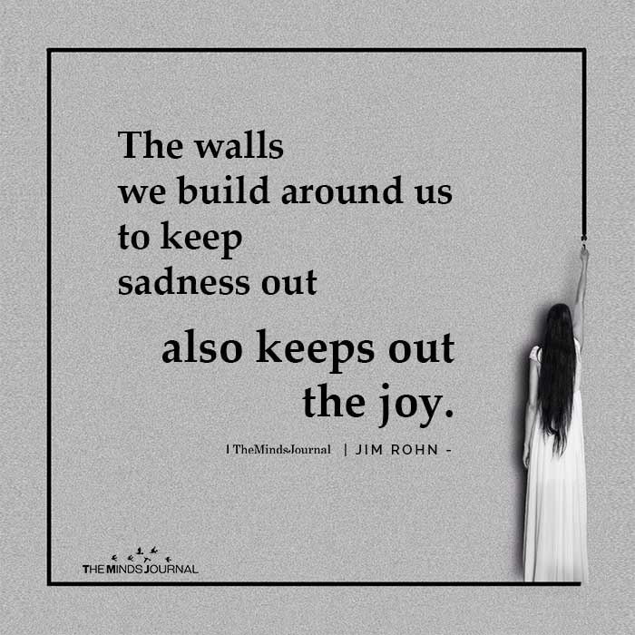 The Walls We Build Around Us
