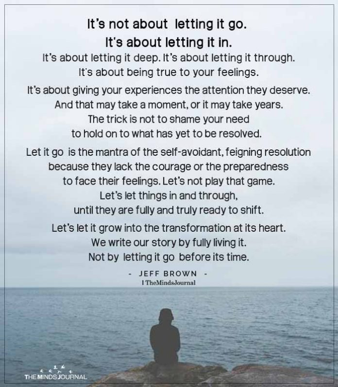 Letting It Go