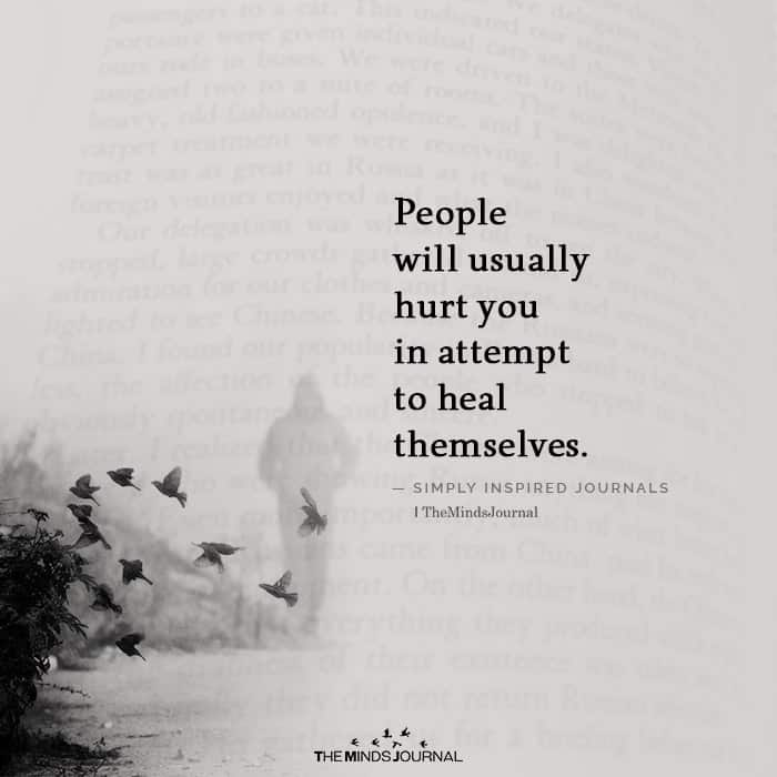 People Will Usually Hurt You