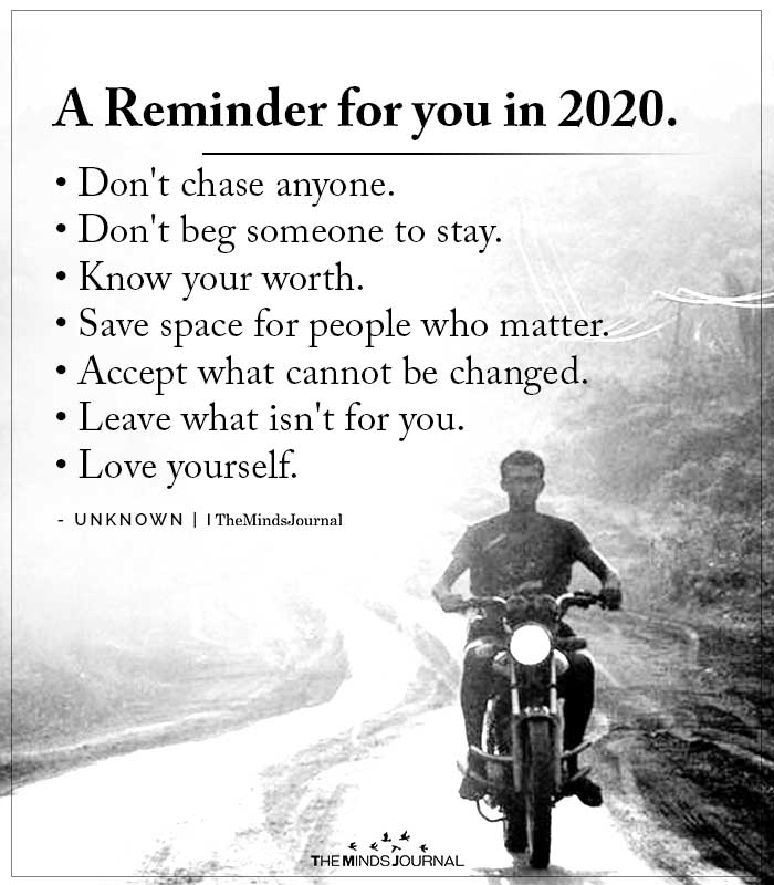 A Reminder for You in 2020