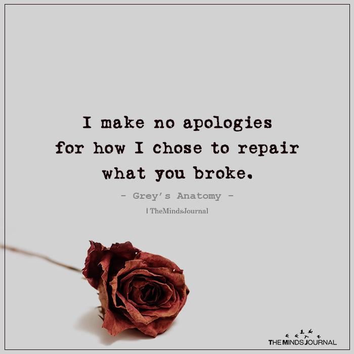 I Make No Apologies