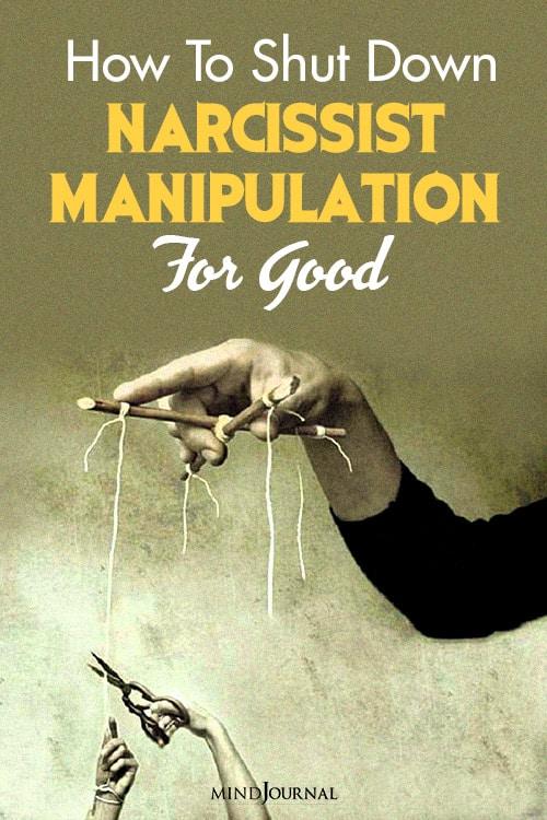 shut down narcissist manipulation pin