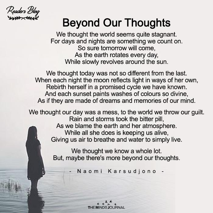 Beyond Our Thoughts