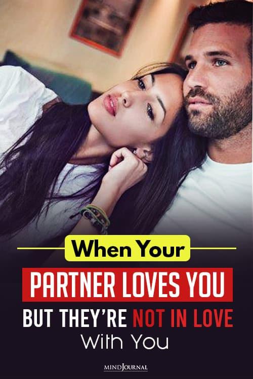 Partner Loves You Not In Love pin