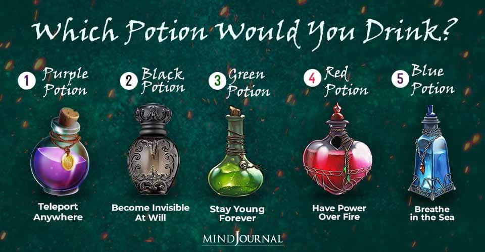 Potion Drink Your Choice Reveals Soul Craves