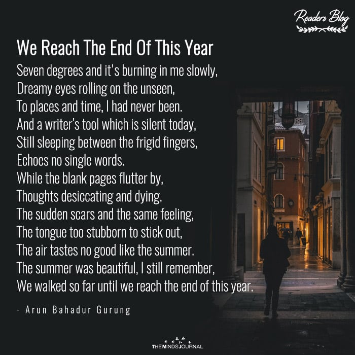 We Reach The End Of This Year