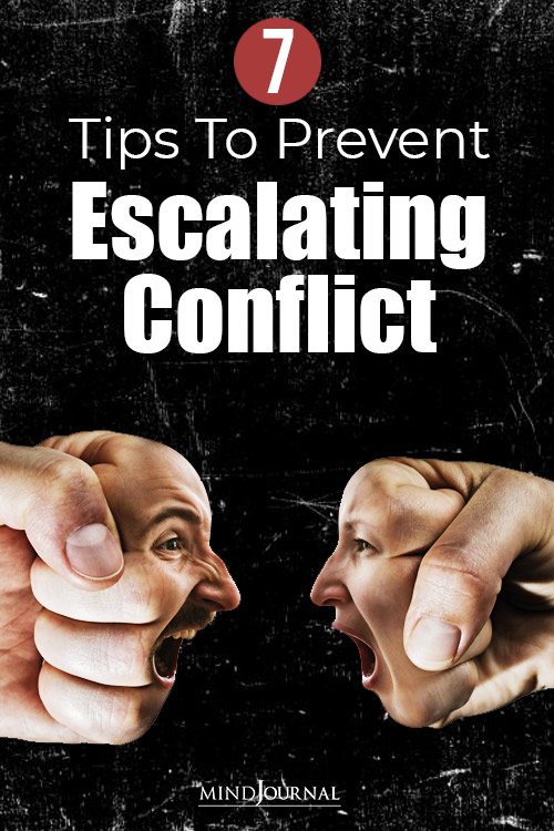 abcs of escalating conflict and prevent them pin