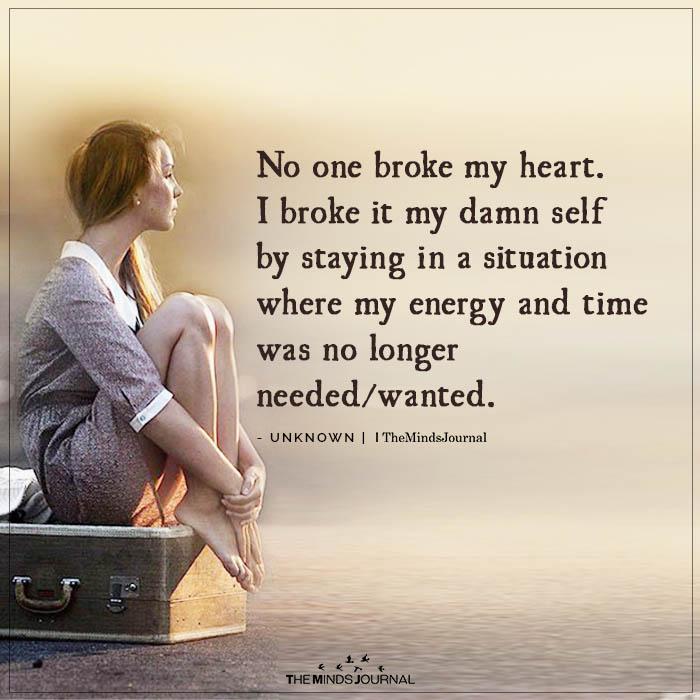 No one Broke My Heart
