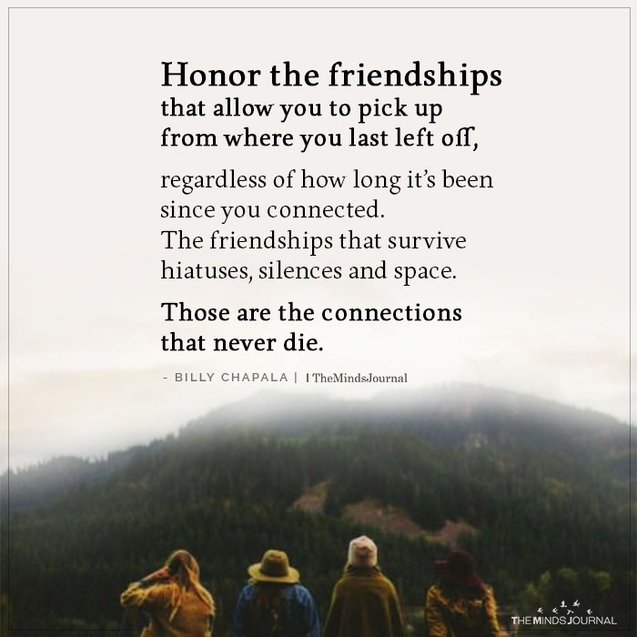 Honor the Friendships