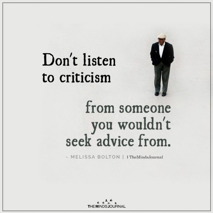 Protect Yourself From Destructive Criticism