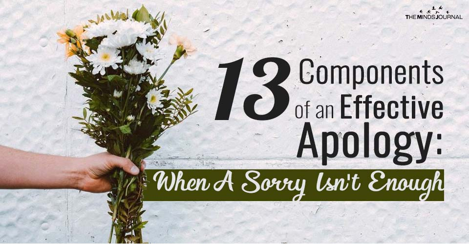 13 Components of an Effective Apology: When A Sorry Isn't Enough