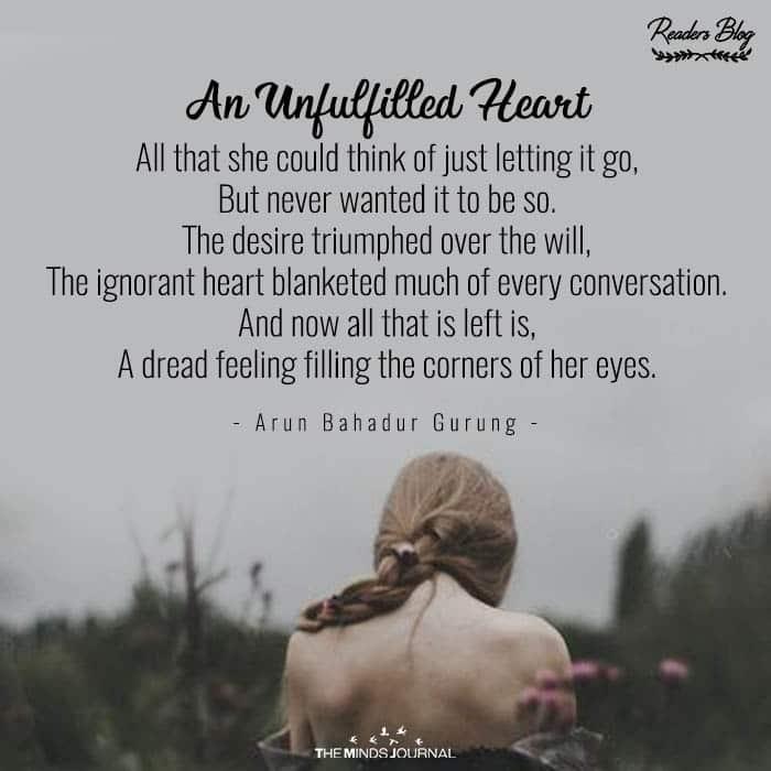 An Unfulfilled Heart