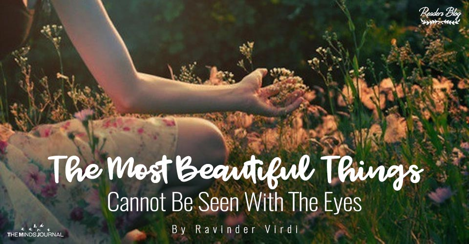 The Most Beautiful Things Cannot Be Seen With The Eyes