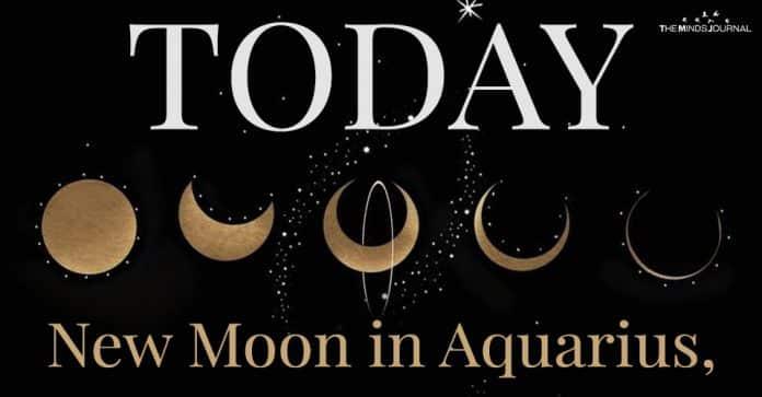 Today New Moon in Aquarius