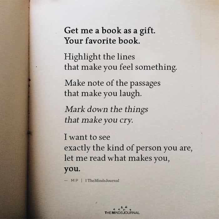 Get me a Book as a Gift