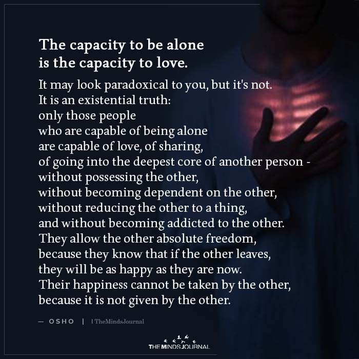 The Capacity to Be Alone