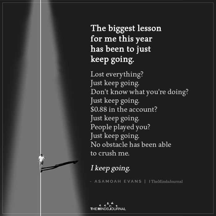 The Biggest Lesson for Me