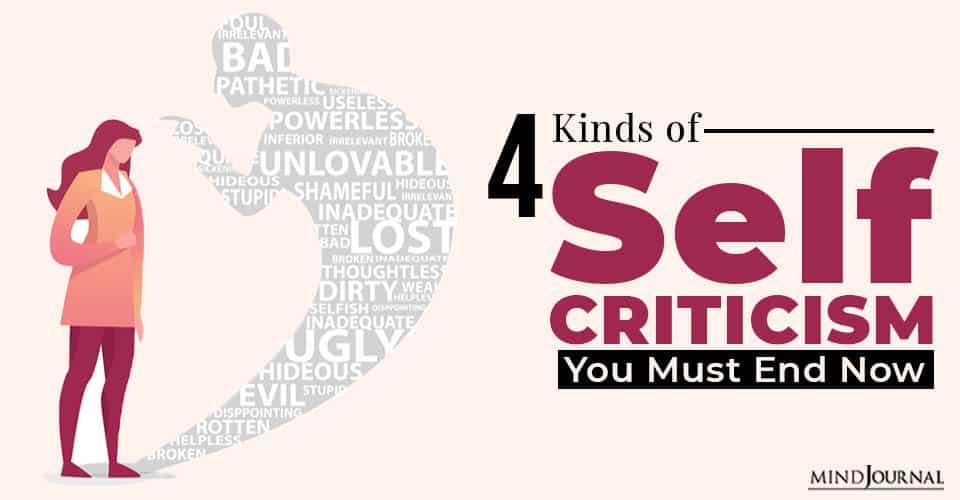 kinds ofsSelf criticism