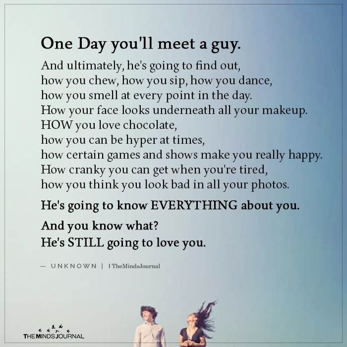 One Day You'll Meet a Guy
