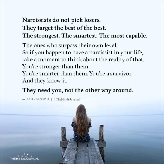Narcissists Do not Pick Losers