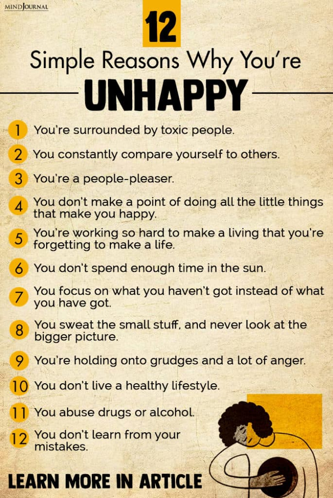 reasons you are unhappy info