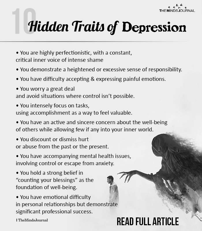 Hidden Traits Of Depression