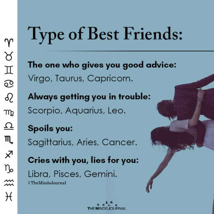 who are aries best friends