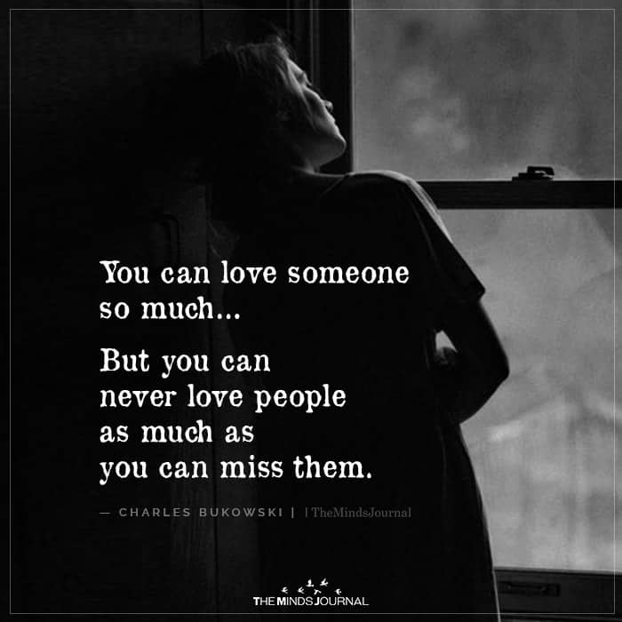 You Can Love Someone So Much