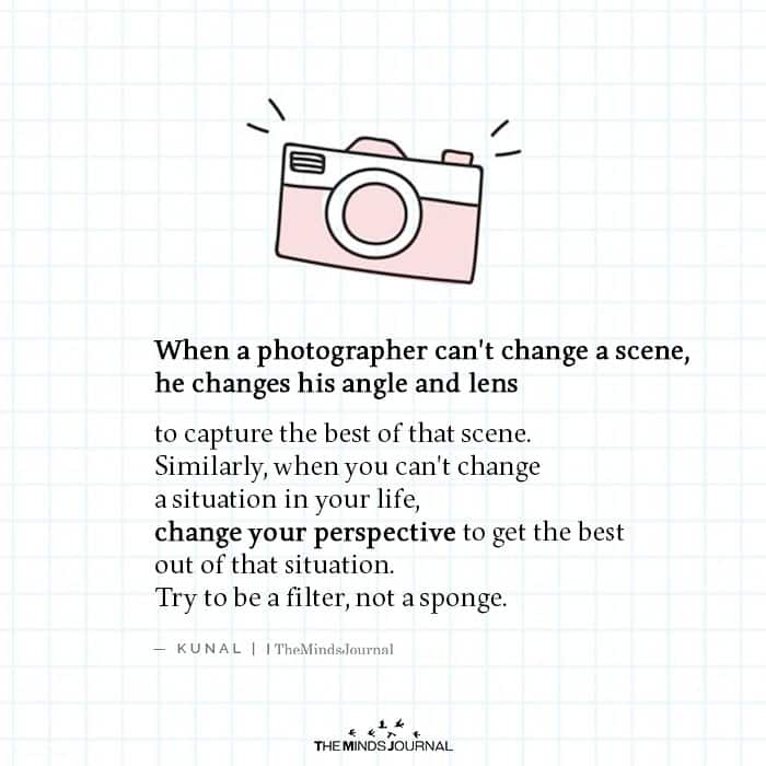 When a Photographer Can't Change a Scene