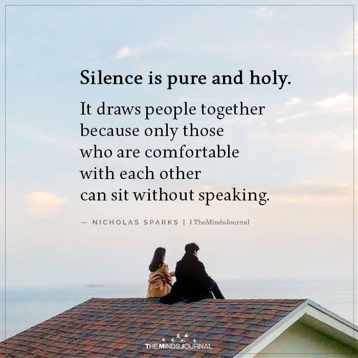 Silence is Pure and Holy