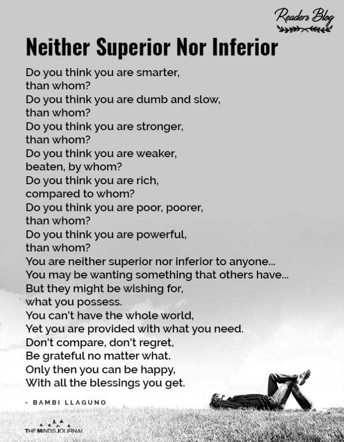 neither superior nor inferior