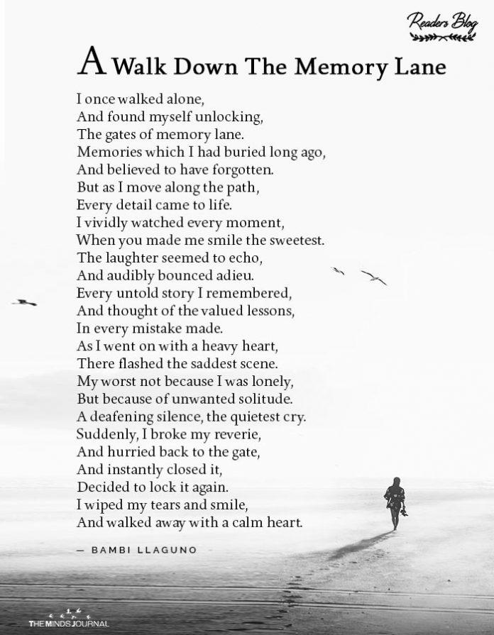 walk down the memory lane
