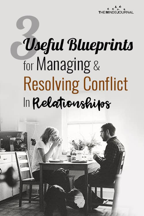 3 Useful Blueprints For Managing And Resolving Conflict In Relationships