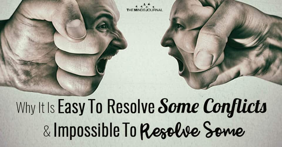 Why It Is Easy To Resolve Some Conflicts and Impossible To Resolve Some