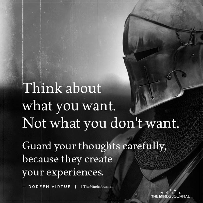 Think About What You Want Not What You Don't Want