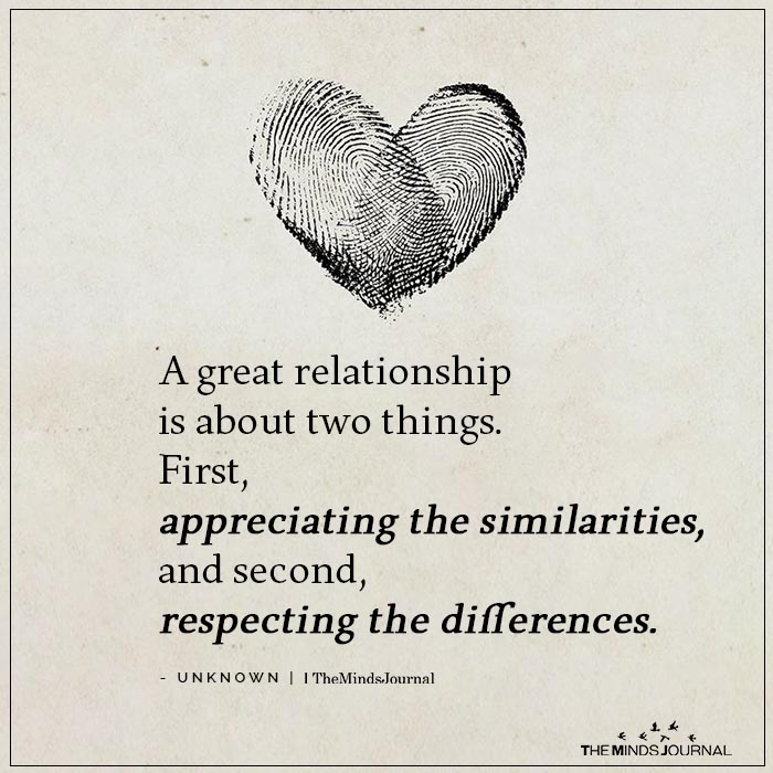 A Great Relationship Is About Two Things