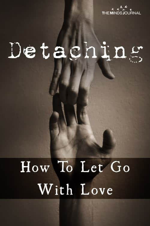 Detaching How To Let Go with Love pin