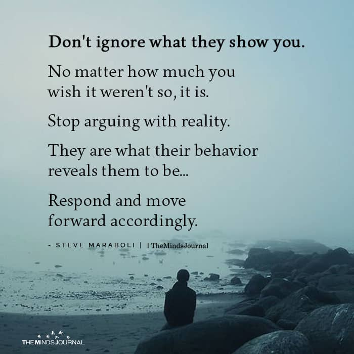 Don't Ignore What They Show You