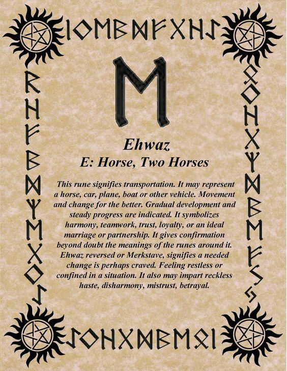 30th March – 14th April: Ehwaz- birthday's rune