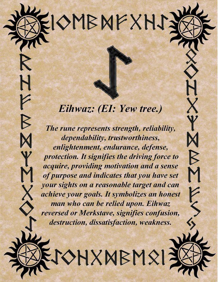 3. 28th December – 13th January: Eihwaz - Birthday's rune
