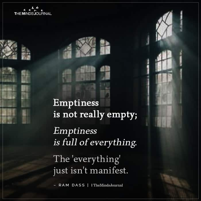 Emptiness is not really empty