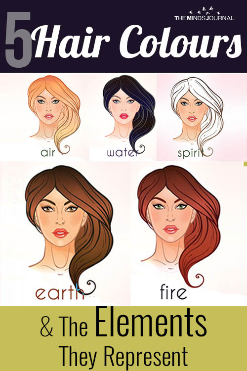 Hair Colours And The Elements pin