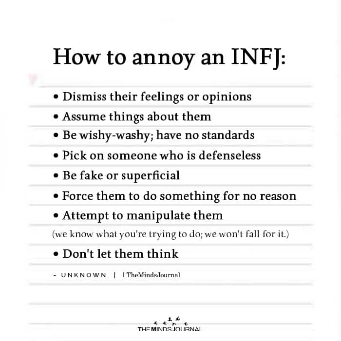 How To Annoy An INFJ