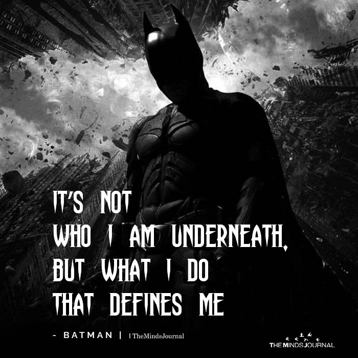 It's not who I am underneath
