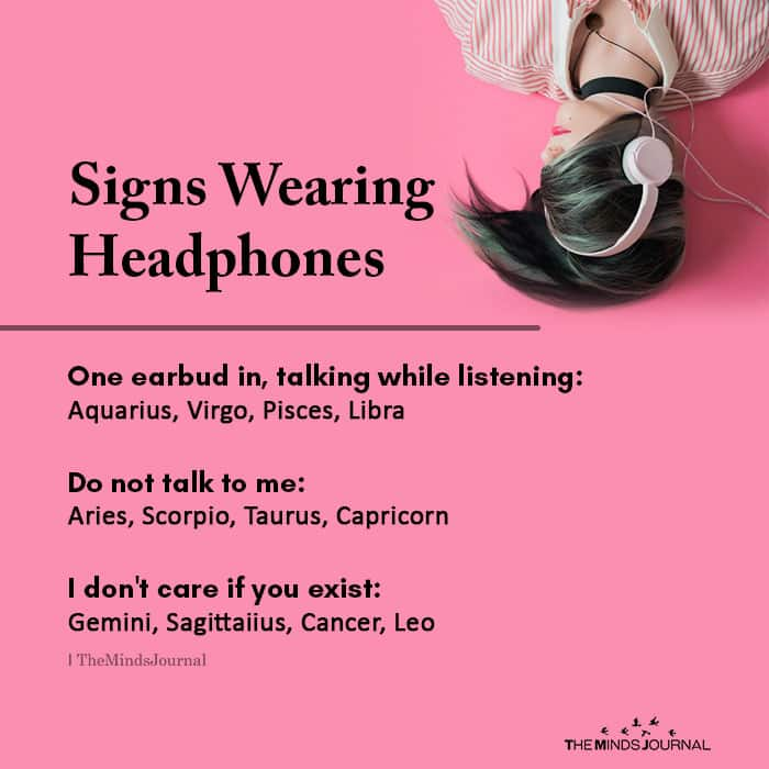 Signs Wearing Headphones