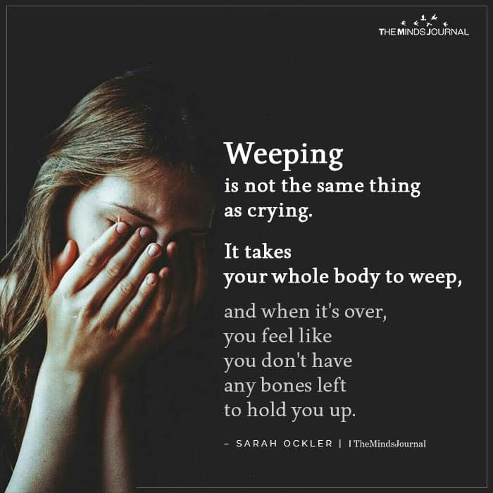 Weeping Is Not The Same Thing As Crying
